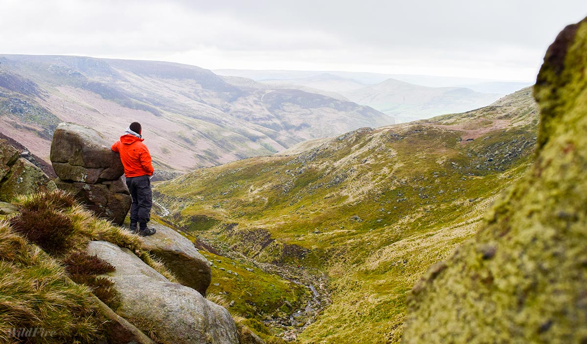 Kinder Scout view down Grinds Brook