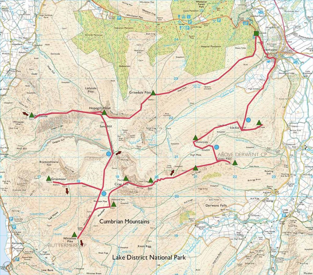 Extended Coledale Horseshoe route