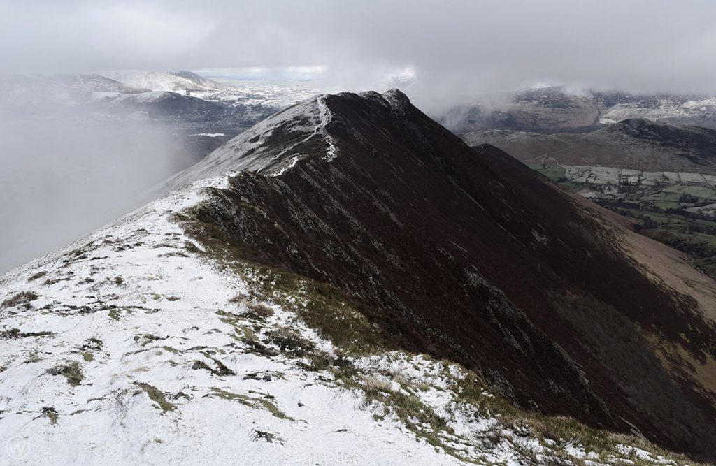 Causey Pike in Winter