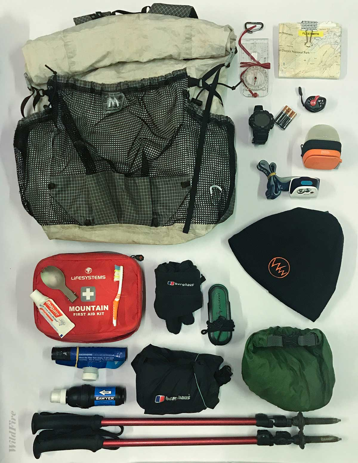Mountain walking kit list