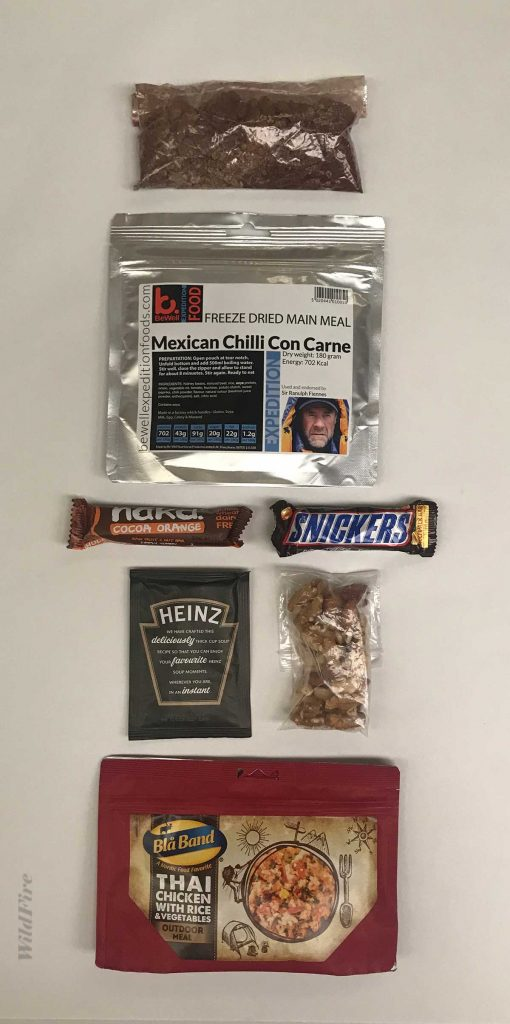 Wild camping 24 hour ration pack
