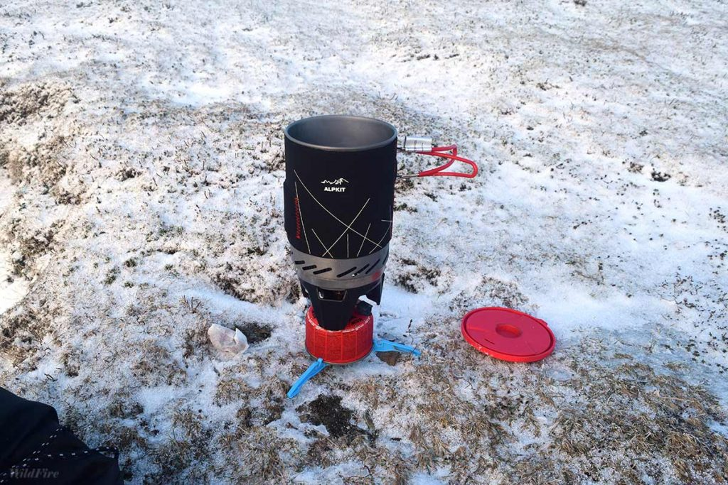 Brewing up on the Coledale Horseshoe in Winter