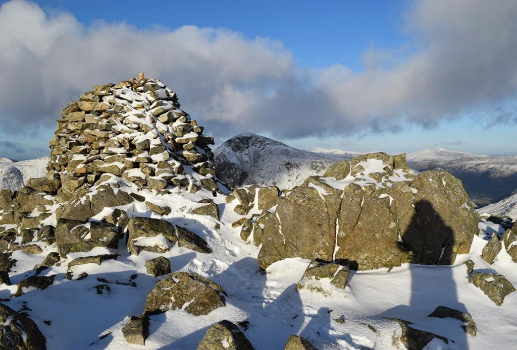Ling Mell summit cairn