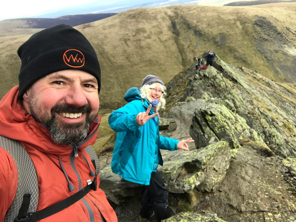 Descending Sharp Edge Blencathra with Alan Hinkes