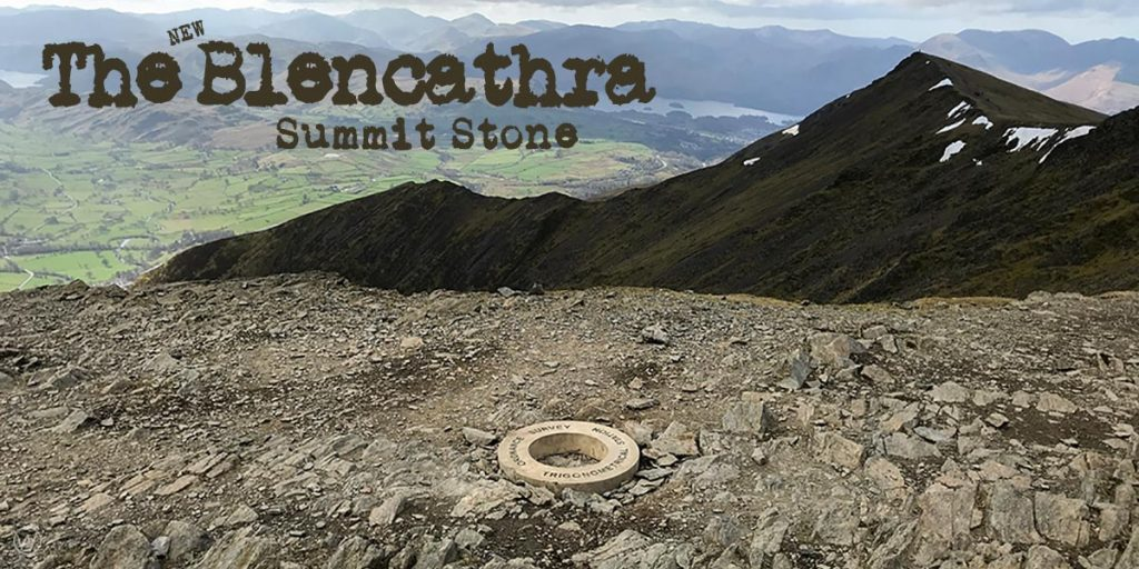 The New Blencathra Summit Stone