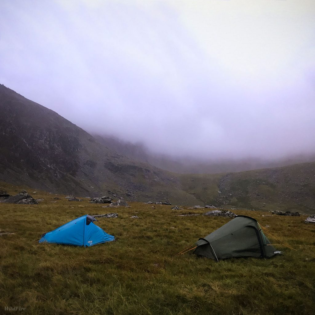 Banshee 200 wild camp on Snowdon