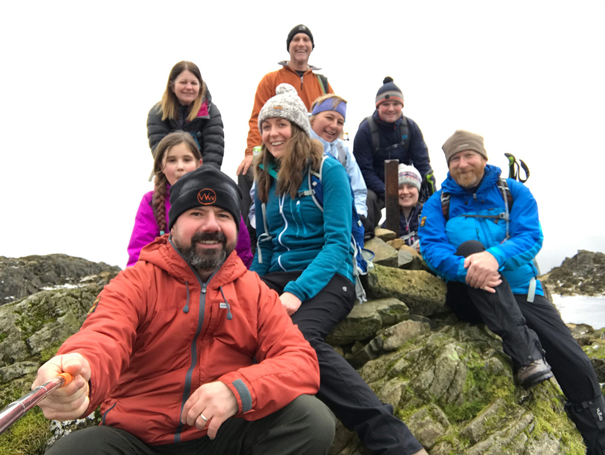 Haystacks summit group walk 2019