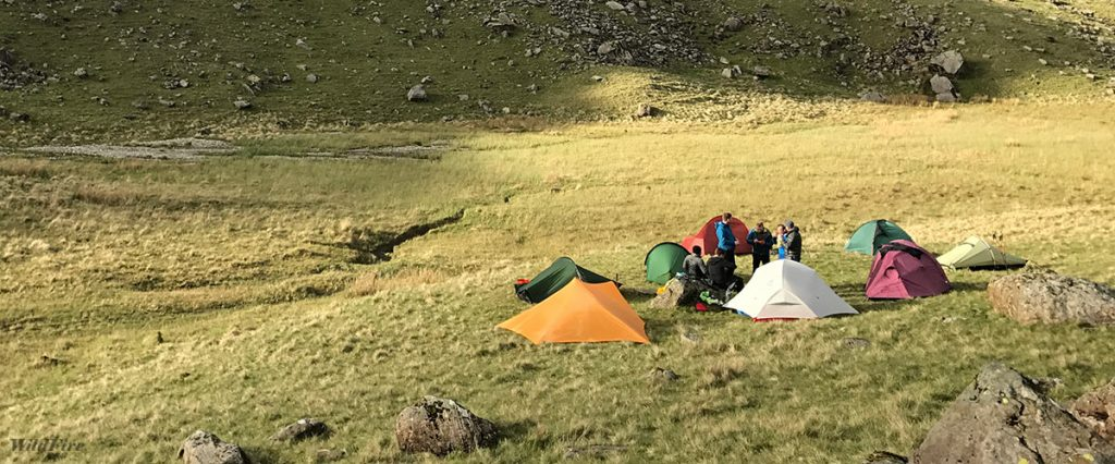 Mountain Leader group wild camp in Eskdale