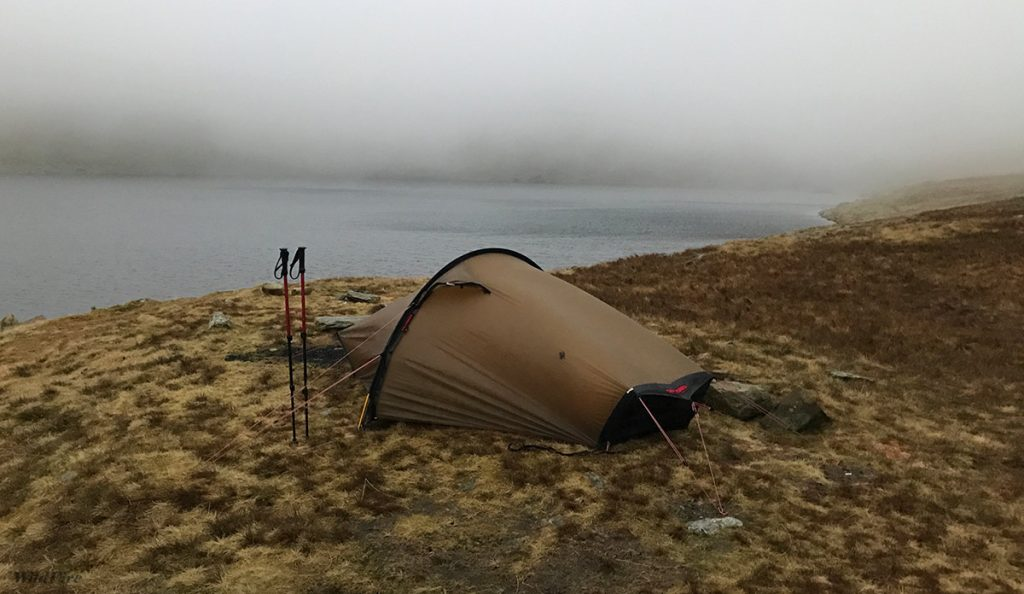 Red Tarn Helvellyn wild camp in the Hilleberg Akto