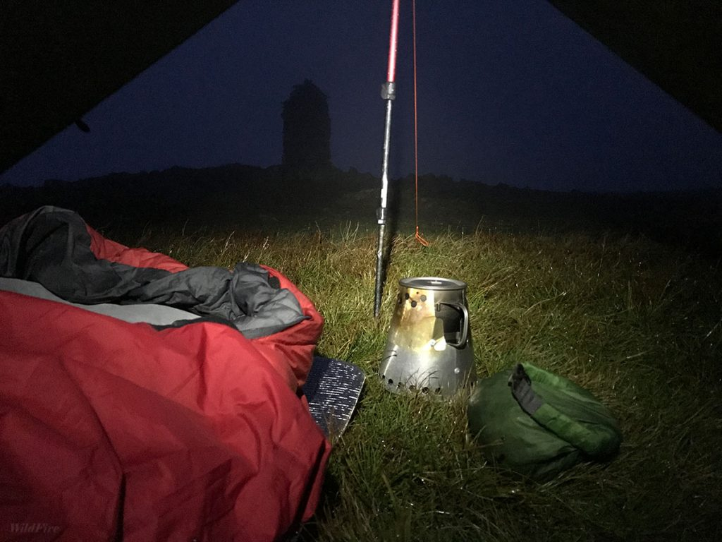 Wild camp cooking on Dale Head summit