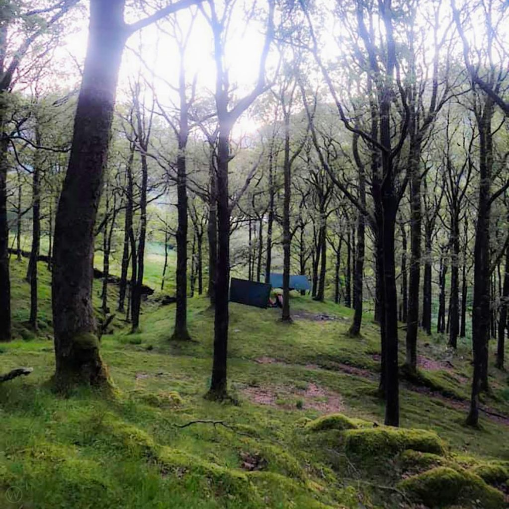 Hammock camping in the Lake District