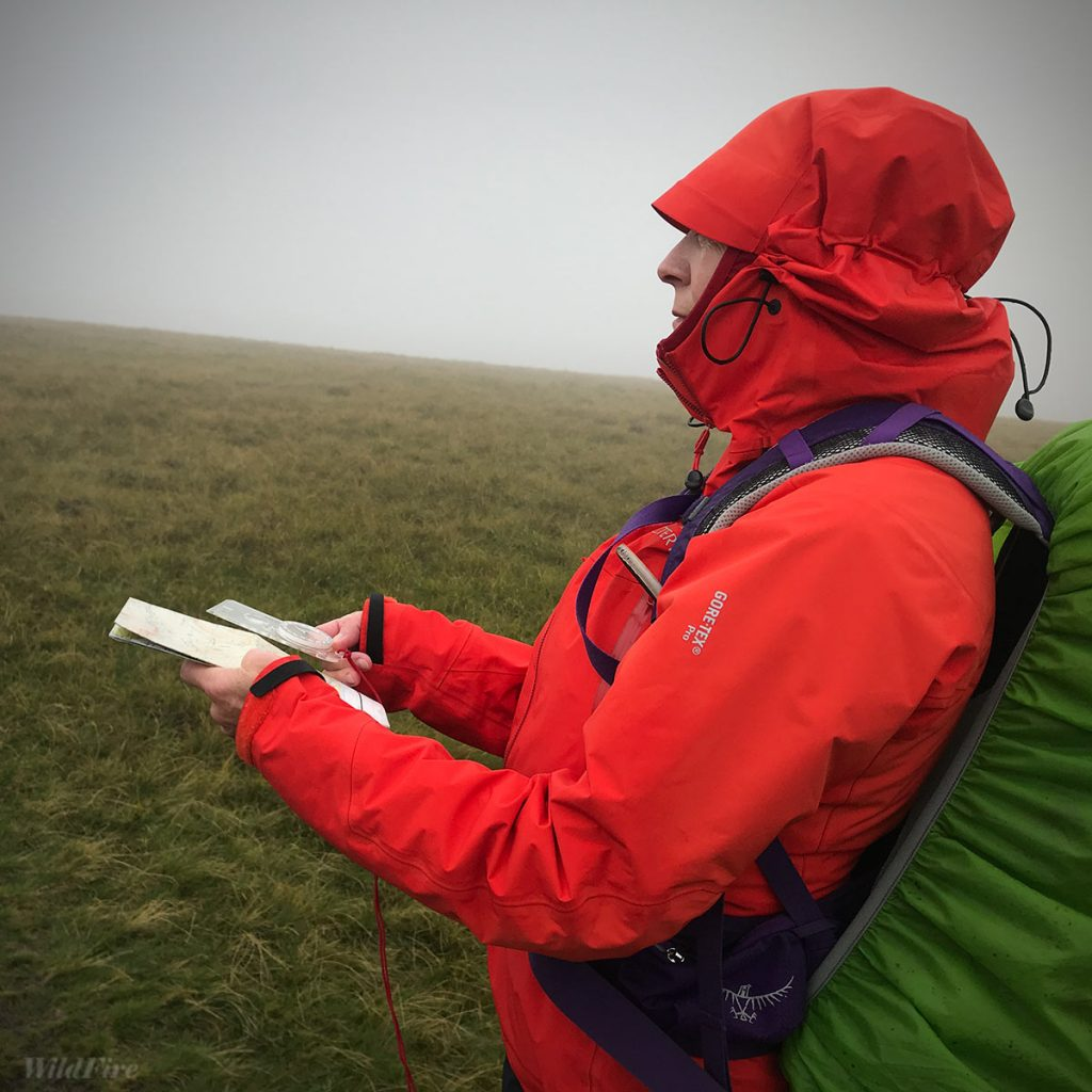 Map reading course at Honister