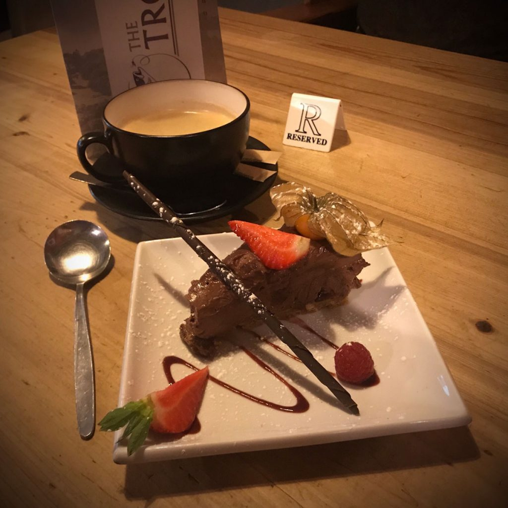 Coffee and cake at the Troutbeck Inn