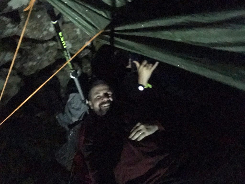 Sleeping under a tarp in Kentmere