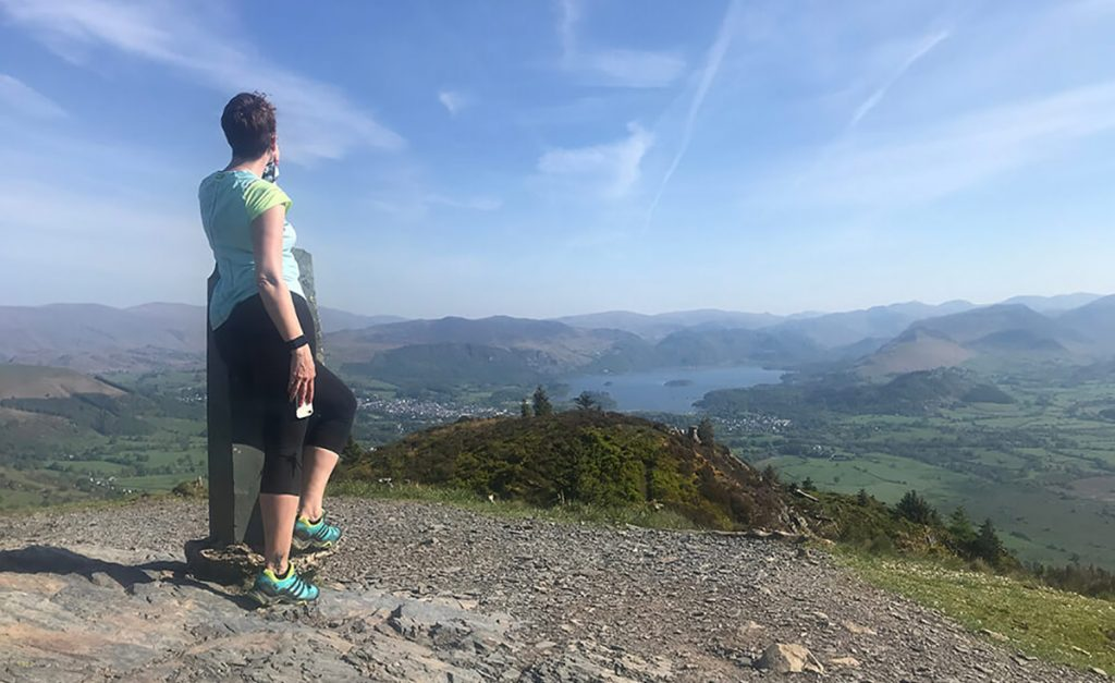 Looking out over Keswick