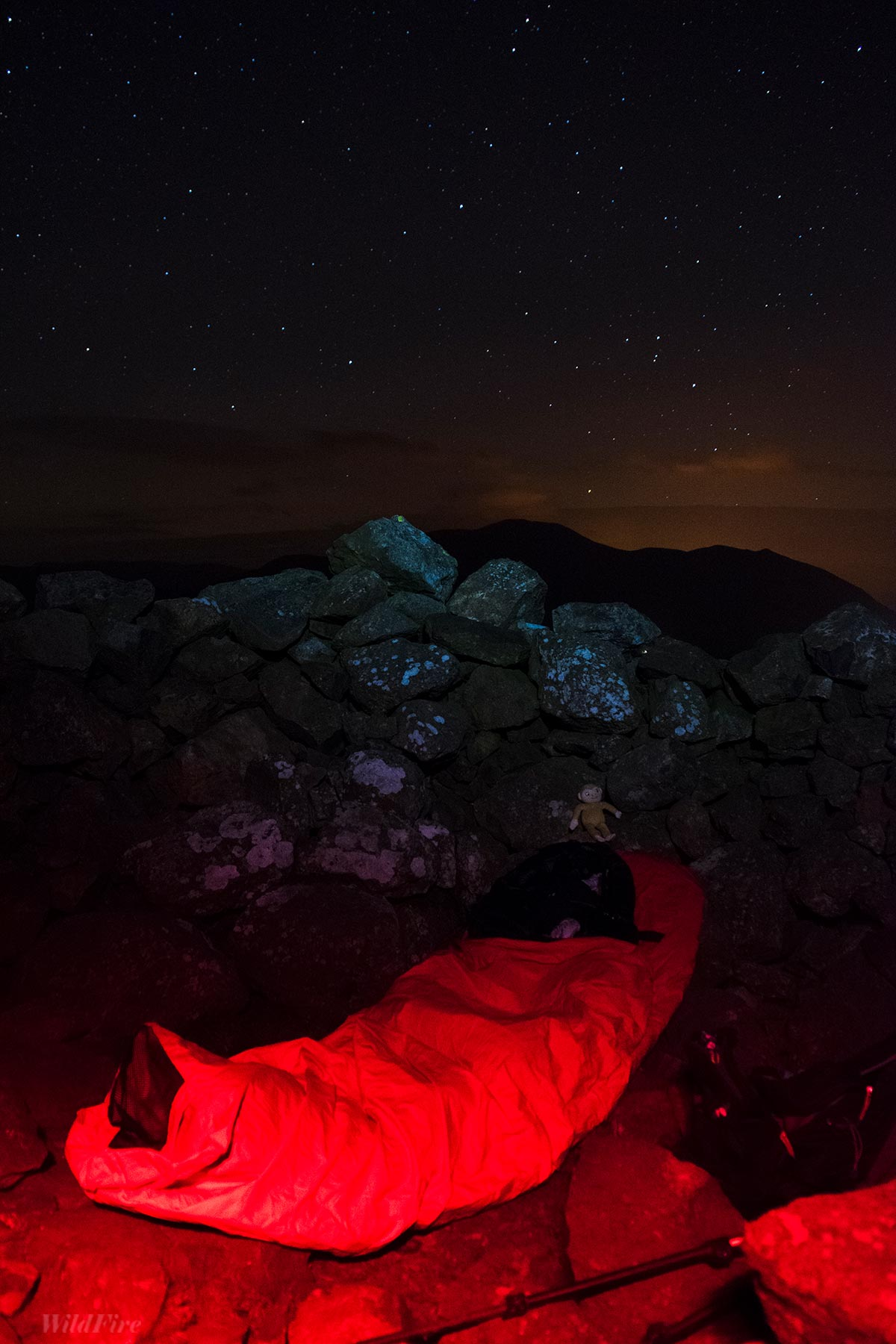 Alpkit Hunka bivvy wild camp on Binsey