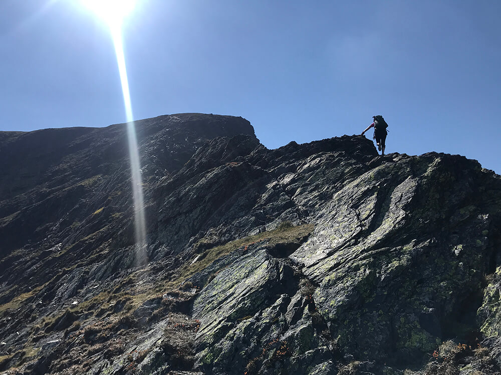 Climbing Sharp Edge on the Northern Fells expedition