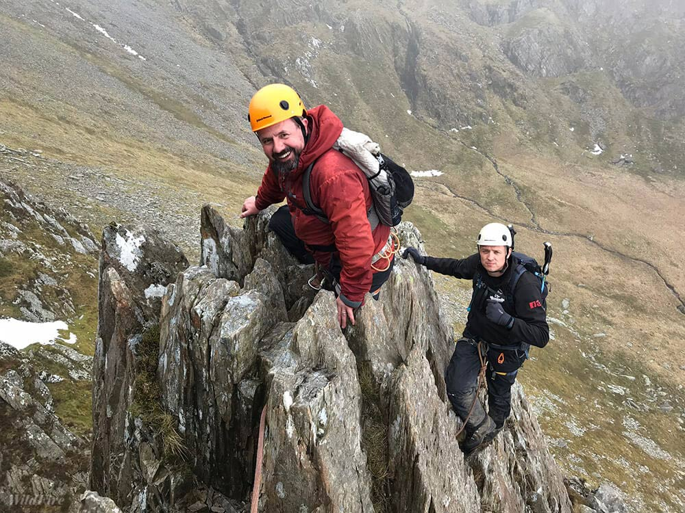 Grade 3 scrambling the Cneifion Arete
