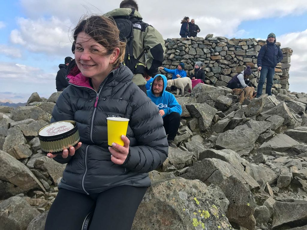 Ness' birthday on Scafell Pike
