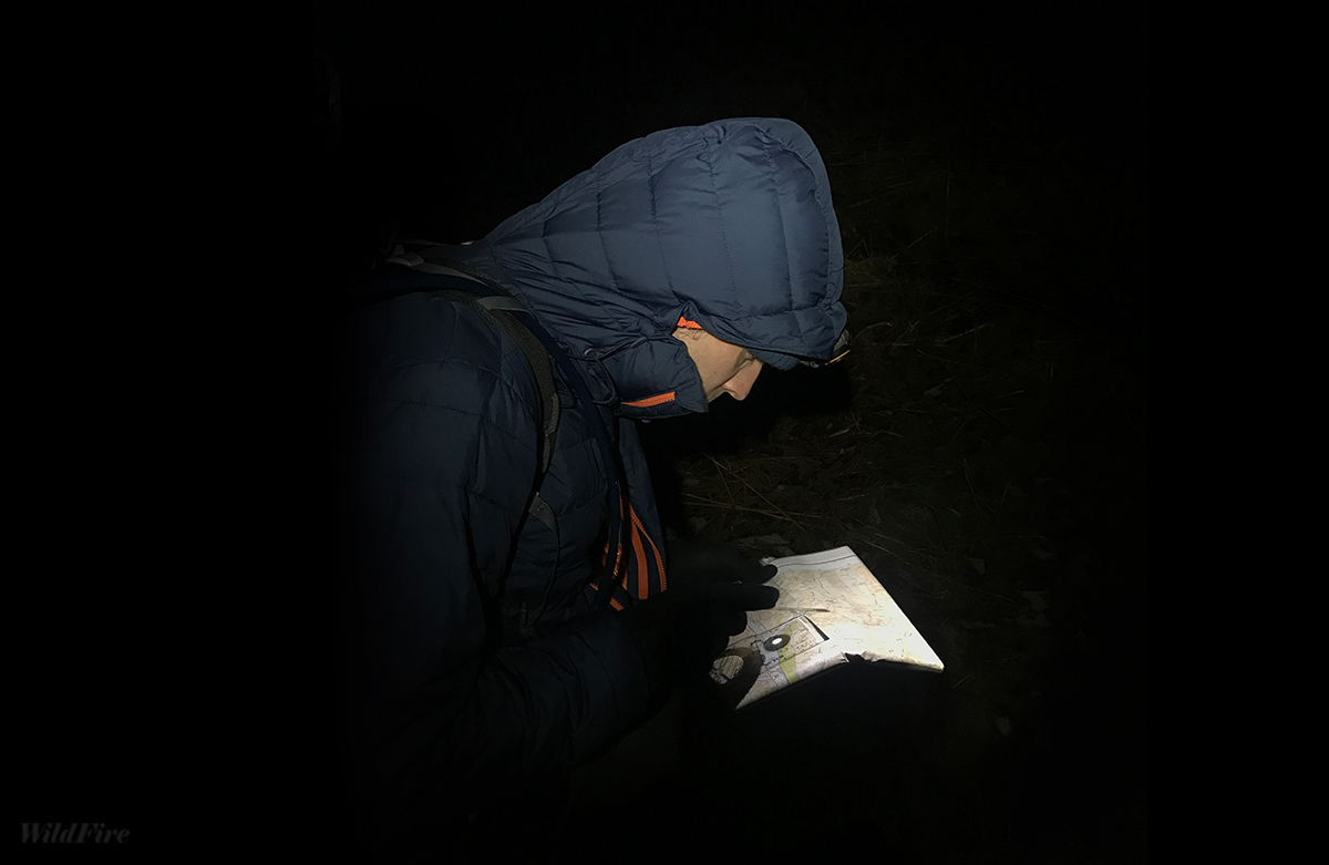 Night Navigation and map reading in the Lake District