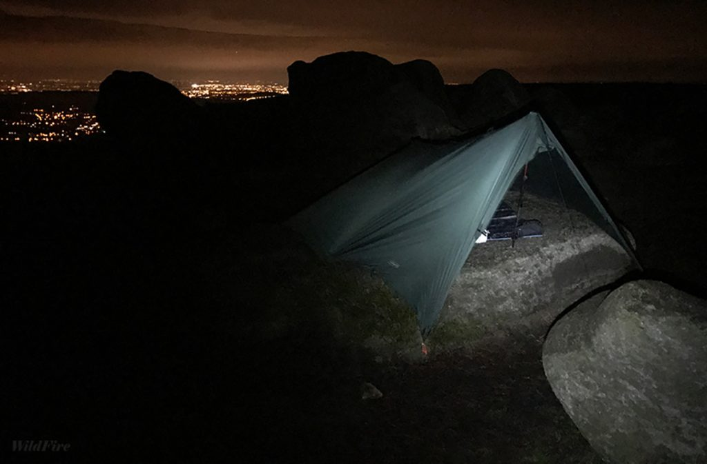 Wild camping in the Peak District Higher Shelf Stones