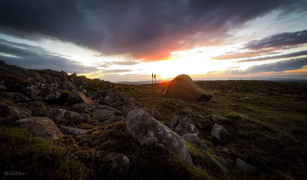 Wild camping on Great Bourne