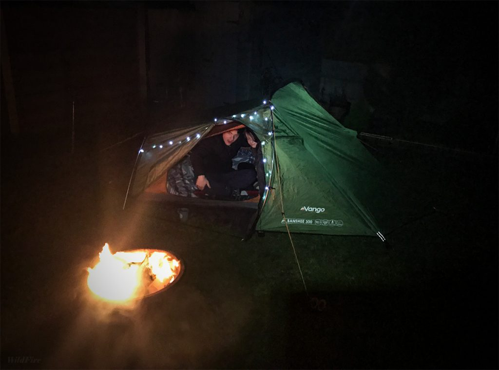 Banshee 300 - Camping in the garden with the kids