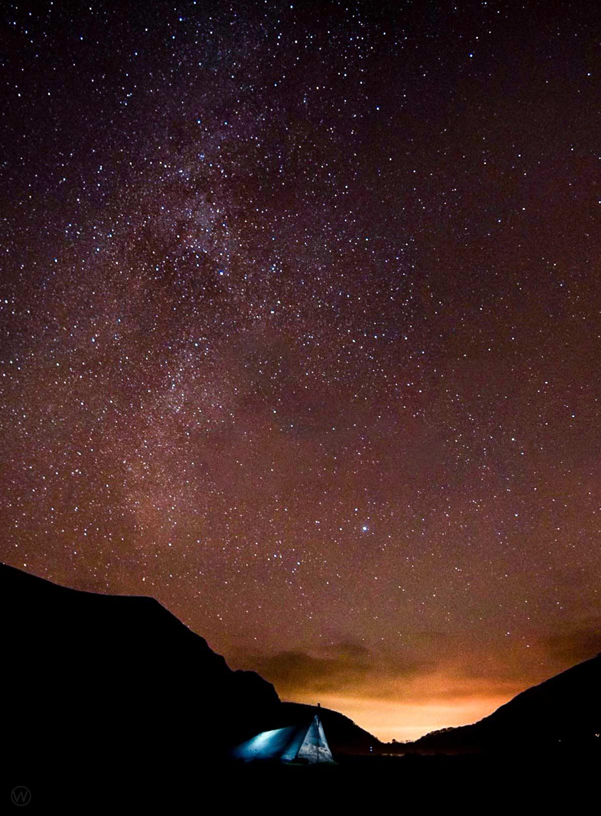 Photographing the stars at Llyn Cwellyn