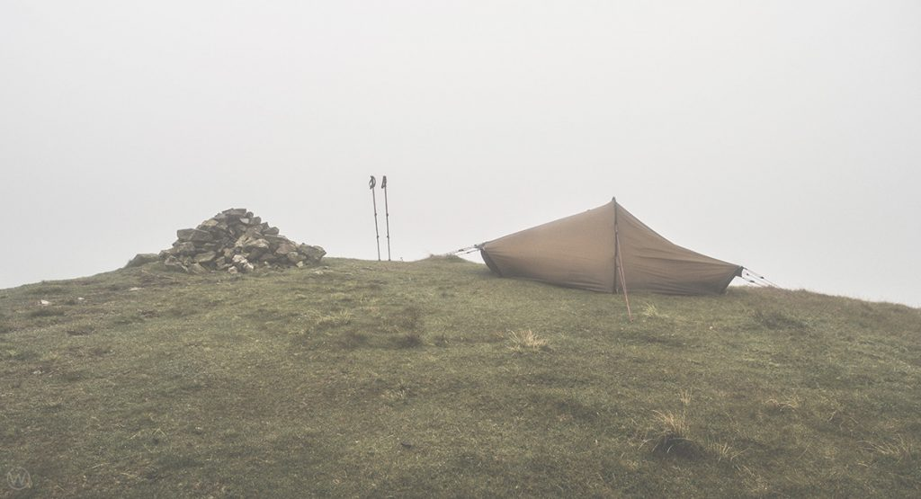 Gavel Fell wild camp in the Hilleberg Akto