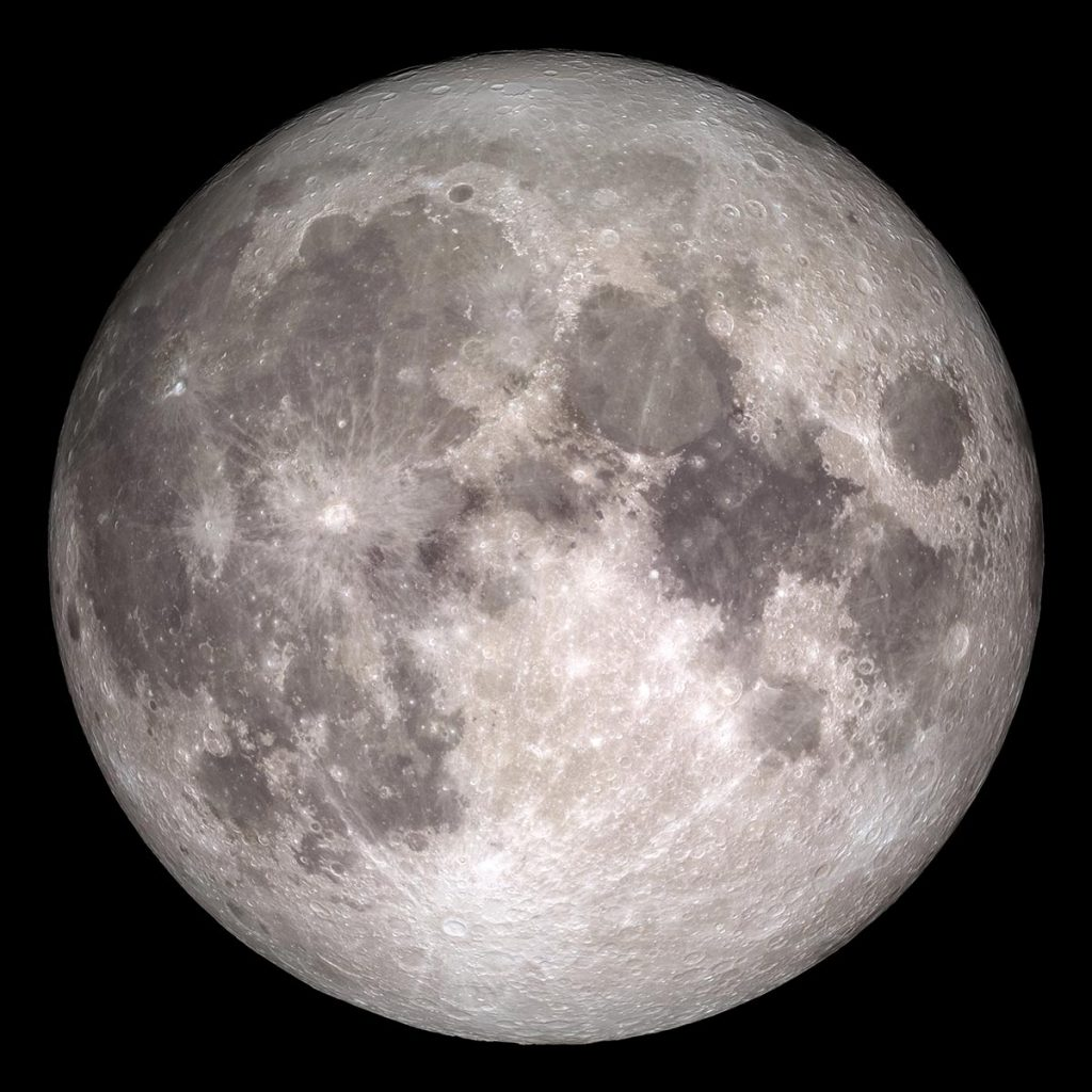Photograph of the full moon by NASA