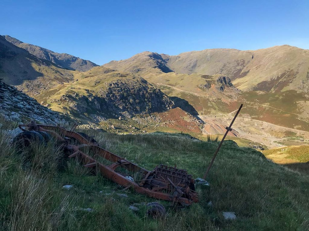 Vehicle at the Coniston Coppermines
