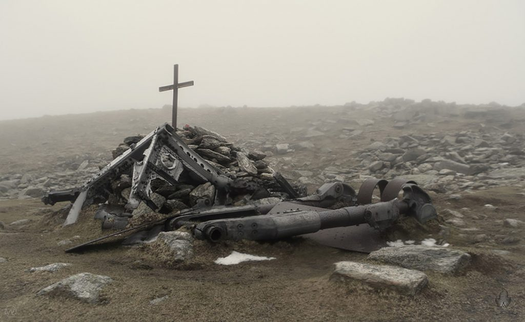 Halifax LL505 plane wreckage on Great Carrs, Coniston Fells