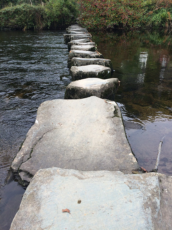 Rydal Stepping Stones over the River Rothay