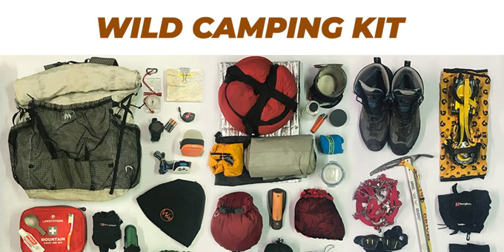 Wild camping kit cover