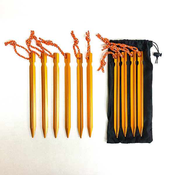 Ultralight Aluminium Tent Peg Set