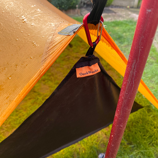 Trailstar door hooks on to guy line