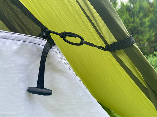 WeeNest support cords for shelter
