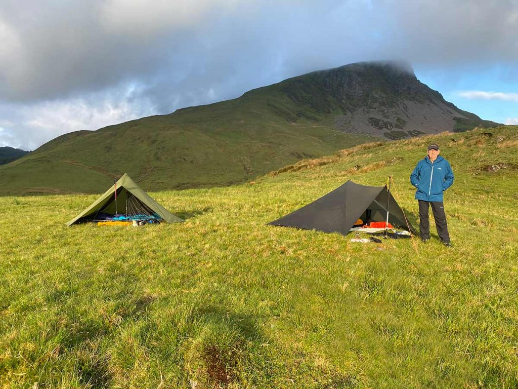 Wild Camping Workshop with David in Snowdonia - OookMid and MLD Trailstar